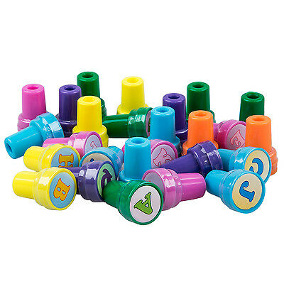 SA 26Pcs Multicolor Plastic Letter Stamp Toy for Kid