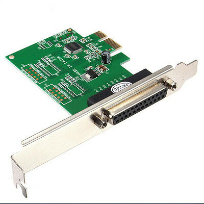SA IEEE 1284 DB25 25 Pin Parallel Port PCI-E PCI Express Card Adapter for PC