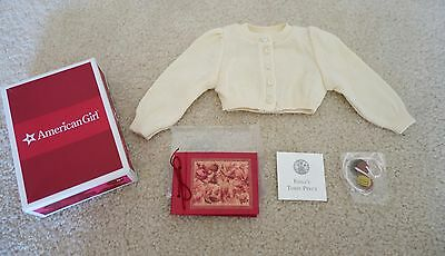 American Girl Doll Emily~Sweater Cardigan Accessories~COMPLETE with BOX