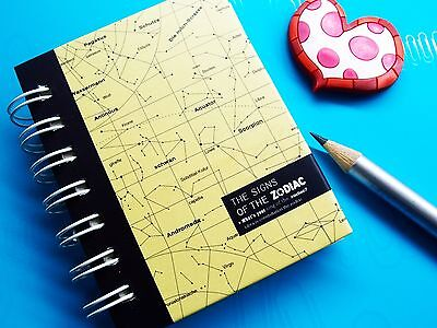 Zodiac HardCover Mini Notebook Memo Scratch Doodle Message Writing Pad Booklet A