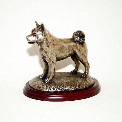 AKITA  Bronze Figurine. Hand made in England. Ideal gift.