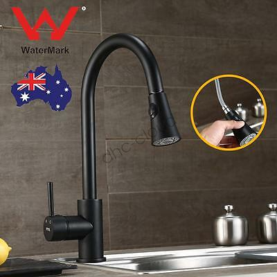 Black Kitchen Sink Basin Laundry 360° Pull Out Swivel Spout Mixer Tap Faucet