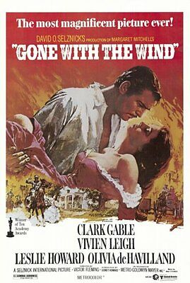 Gone With The Wind Art Poster Hollywood Classic Print Poster  27x40