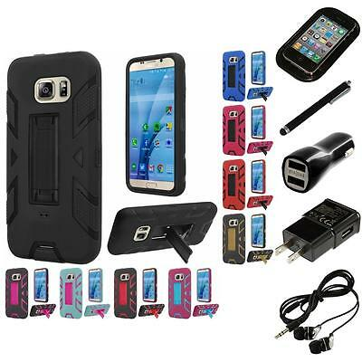 For Samsung Galaxy S7 Kickstand Rugged Defender Case Phone Cover Headphones