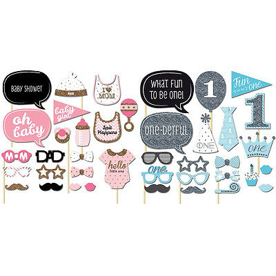 Girls Boys Baby Photo Booth Props Parties Props Shower 20 Pieces In One Set SW