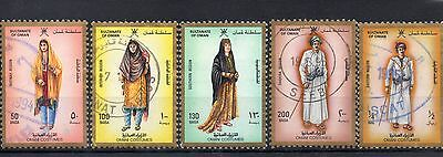 SULTANATE OF OMAN 1989 SG 365 to 367 + 369 + 370 used