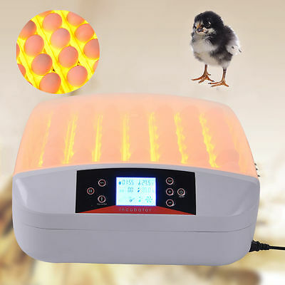 56 Eggs LCD Automatic Turning Incubator Hatcher Temperature Humidity Control