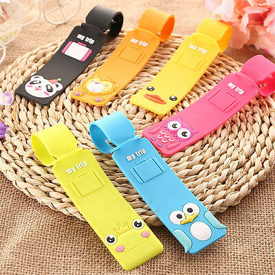 Travel Luggage Tag Suitcase Baggage Bag Name Address ID Tag Holder Silicone FT