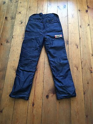 chainsaw trousers Type C size Small. michael richmond