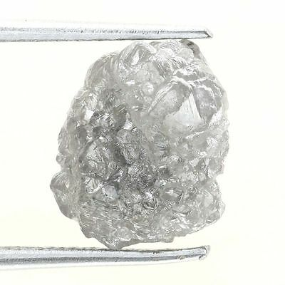 3.13 ct Carat Fancy Silver Gray Natural  Rough Diamond Gem
