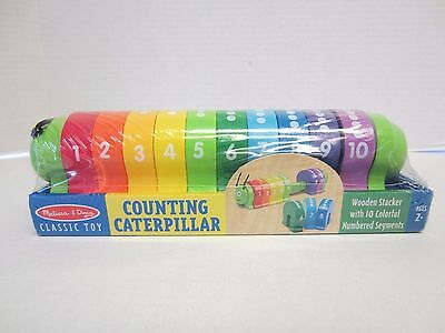 Melissa Doug Counting Caterpillar Wooden Stacker Classic Toy NEW