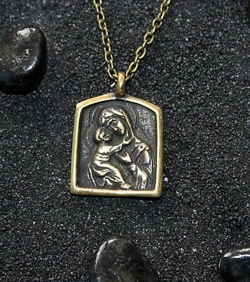 Theotokos of Vladimir Our Lady Mother of God Byzantine Icon Orthodox Pendant