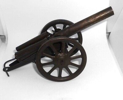 Tinplate toy cannon by Burnett Ltd - vintage 1920's collectable