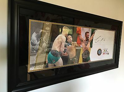 CONOR McGREGOR ufc 196 FIGHT USED CANVAS only 50 made mega rare AUTOGRAPH signed
