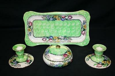 Superb Maling Of Newcastle Five Piece Dressing Table Set  - Pattern Number 6524