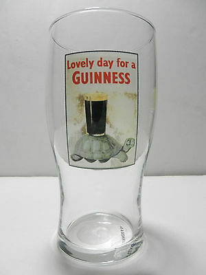Lovely Day For A Guinness Irish Pint Beer Glass Dublin Ireland Brewery NEW