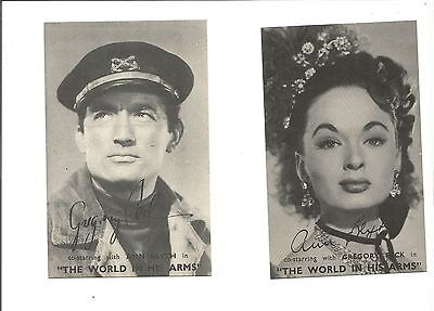 1952 Advertising Photographs for Odeon Colwyn Bay Gregory Peck & Ann Blyth in...
