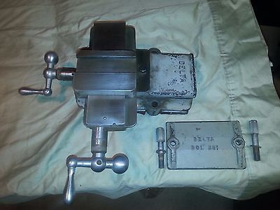 """Vintage Delta Wood Lathe Compound Cross Slide with Plate for 11"""" 930 Lathe"""