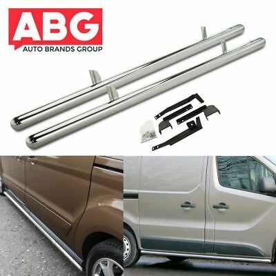 For Ford Transit Connect SWB 2002 to 2013 Side Bars Polished S/ Steel Bar New