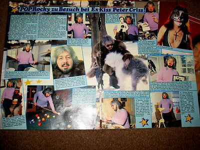 KISS /Peter Criss  article - very rare!