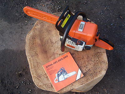 """Stihl 023C Chainsaw New 14"""" Bar And Chain Very Good Condition Full Working Order"""