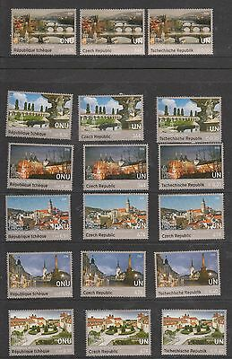 United Nations - 2016 World Heritage Czech Republic Booklet Stamps Mint NH