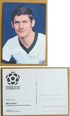 1970 World Cup signed postcard of Max Lorenz W Germany