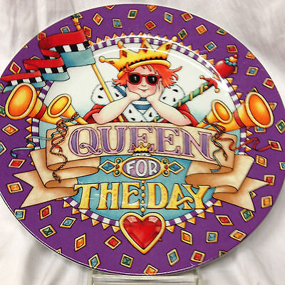 """Mary Engelbreit Queen For The Day 10 5/8"""" Dinner Plate Collector Plate 2001"""