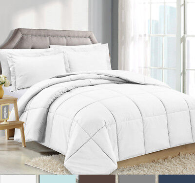 3 Piece Reversible Down Alternative Comforter Set - Comforter with Shams