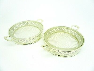 Sterling Silver Butter Dishes, Pair, Hallmarked 1951, Barker Brothers