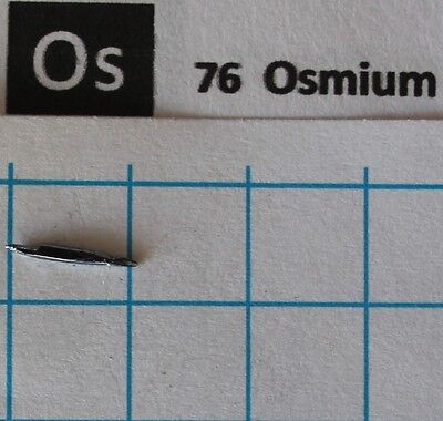 Osmium Metall Kristall #20 99,999% 0,22 gramm Metal Crystal - Element 76