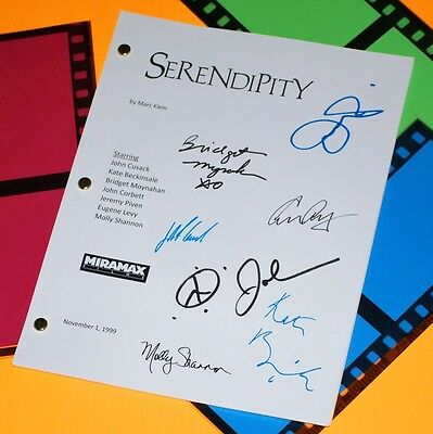 Serendipity Movie Script Signed Rpt John Cusack, Kate Beckinsale, John Corbett
