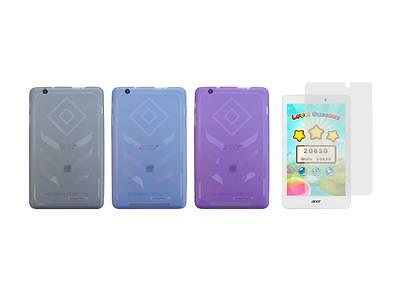 TPU Gel Skin Cover Case and Screen Protector for Acer Iconia B1-810 Tablet