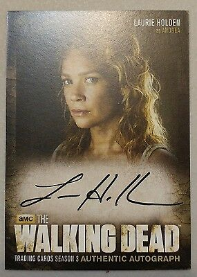 The Walking Dead Season 3 Laurie Holden as Andrea Autograph Card A14