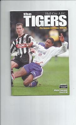 Hull City v Watford, Luton & Grimsby Town Friendly Football Programme 1998/99