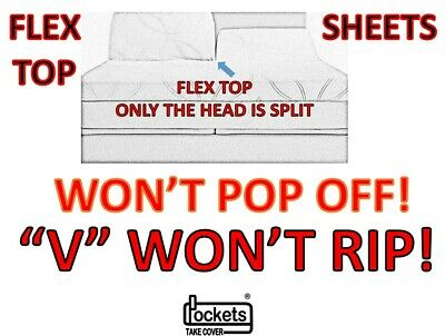 WON'T POP-OFF SHEETS for DEEP POCKET FLEX TOP SPLIT TOP SPLIT HEAD V WON'T RIP