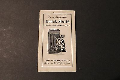 Kodak Six-16 - Eastman Kodak - Original Manual