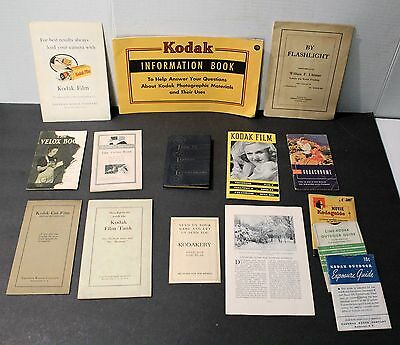 Vintage lot of various Kodak books and manuals - 15 total
