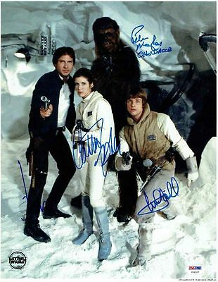 STAR WARS A NEW HOPE RP AUTOGRAPHED CAST 8X10 HAN LEIA LUKE c3Po CARRIE FISHER 3