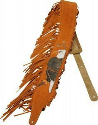 "Levy's Guitar Strap, MS17AIF-003, 2.5"" Suede Leather w/ American Indian Design"