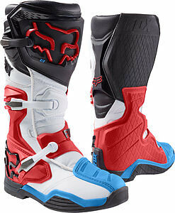 Fox Racing Comp 8 2017 Mens MX/Offroad Boots Red/White/Blue/Black