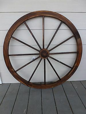 """36"""" Wooden Wagon Wheel Decorative with Hubs 36 inch"""