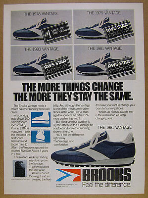 1980 Brooks Vantage Running Shoe color photo vintage print Ad