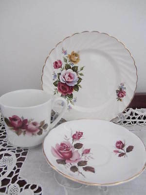 Mixed - ''old Foley Regency Woods? '' Floral - Cup / Saucer / Plate Trio