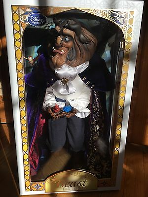 "DISNEY STORE 2016 Beast BEAUTY AND THE BEAST DOLL 17"" LE 3500 Limited New MIB"
