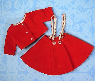 Vintage Tammy Pepper Clothes Miss Gadabout 9331 Red Skirt & Jacket 1960s EXCLNT