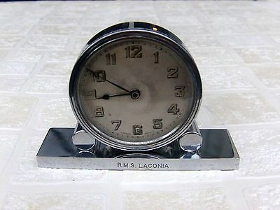 Cunard R.M.S. Laconia Alarm Clock ( On Base NEW YORK to LIVERPOOL 25 Dec.1937 )