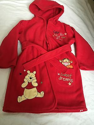 Disney Baby Dressing Gown Robe Age 12-18 Months Winnie The Pooh Tigger