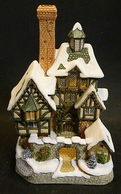 Vintage David Winter Cottages Scrooge Family Home Christmas 1994 Excellent Con
