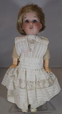 """Antique Small 10"""" Bisque-Head Armand Marseille Am 390 Child Doll A.8/0.m Germany"""